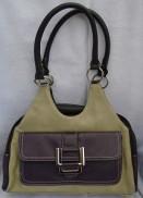 Bella faux leather handbag Purple multi