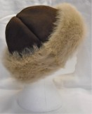 Tara Sheepskin Hat with Honey Toscana Band