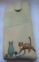 Yoshi by Litchfield Cats Whiskers leather tab top spec case