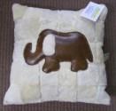 Sheepskin Cushion with Elephant