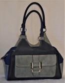 Bella faux leather handbag blue multi