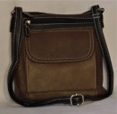 Olivia Brown Multi Faux Leather bag