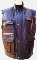 Gents Leather Multi Pocket Body Warmer