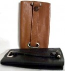 Bell shaped leather key case