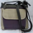 Olivia Purple Multi Faux Leather Bag