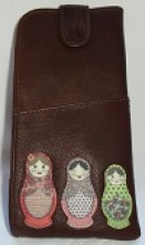 Yosi by Litchfield Russian Dolls leather tab top spec case