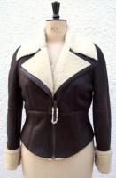 Shirley Flying Jacket with vanilla wool