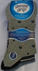 Gents gentle grip patterened socks