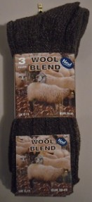 Gents wool blend chunky socks