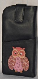 Yoshi by Litchfield Twit Twoo leather tab top spec case