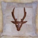 Sheepskin Cushion Stags Head