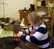 Jan working on another quality garment
