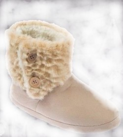 Fur top ladies coolers booties