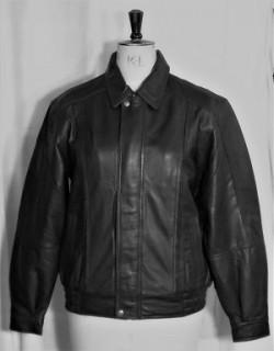 Gents leather jkt black