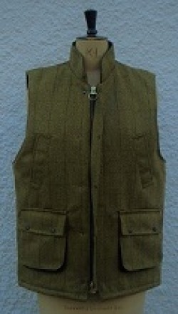 Gents tweed bodywarmer, sage
