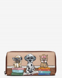 Bookhound Gang leather purse