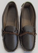 Dark Brown Leather Moccasins