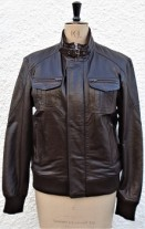 Gents Leather Bomber