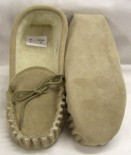 Unisex Suede Wool Lined Moccasins with a soft sole Size 12