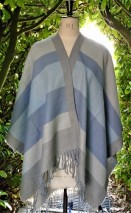 Ladies pastel wrap in blue-grey