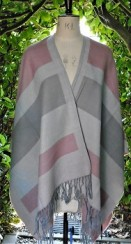 Ladies pastel wrap in pink-grey