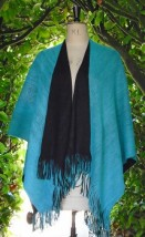 Ladies reversable wrap teal-navy