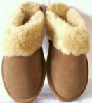 Ladies Sheepskin Mules with a hard sole