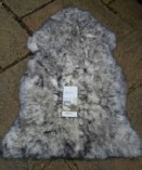 Bowron Luxurious Grey Tipped Sheepskin Rug