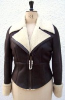 Shirley Flying Jacket with vanilla wool