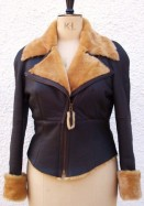 Shirley Flying Jacket with Tan Wool