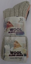 Ladies wool mix socks pack