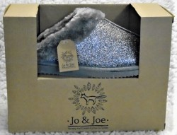Jo and Joe ladies mules silver sparkly