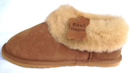 371721b707f9 Ladies Full Sheepskin Collar Slippers