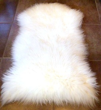 Note: It Is Advisable To Shake Your Sheepskin Rug Outside!